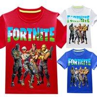 Camiseta de manga corta para niños Fortnite Boys and Girls Tops 3331 Ropa para niños