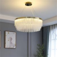 Moderne LED-Kristall-Kronleuchter Licht Luxuxwohnzimmer Pendelleuchte Nordic kreative Quaste hängende Lampe Restaurant Schlafzimmerbeleuchtung