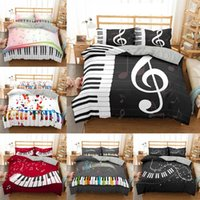 Bedding Sets 3D Piano Duvet Microfiber Cover Set Comforter B...