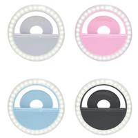 تحديث 3200K-6500K 40 LED مصابيح الصور الشخصية للحلقة الضوء آيفون الروبوت مدونة فيديو حلقة ضوء الصور الشخصية للتعبئة ضوء تعزيز USB المسؤول