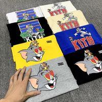 Kith Tom et Jerry T homme femmes t-shirt manches courtes occasionnels SESAME STREET vêtements de mode L tees outwear tops tee qualité