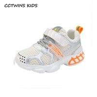 Atlético Outdoor CCTwins Kids Shoes 2021 Outono Crianças Moda Moda Instrutores Respiráveis Bebê Meninos Esporte Sneakers Meninas Casual FS3829