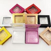 Glitter Cils Boîtes grains Case papier boîte de couleur Muti Emballage Tetragon Plateau en plastique couleur d'impression d'emballage cosmétique Cas 3 7yeb C2