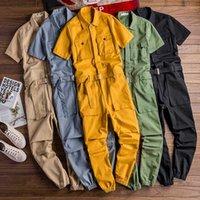 S-5XL Salopette Hommes court manches longues Vêtements de travail Chaufferie Costume Coveralls Costume de déguisement PANTALON 5colors Plus Size
