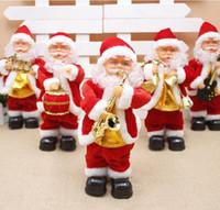 5 Стили Электрический Санта-Клауса игрушка Рождество Электрические Танцы Музыка Санта-Клаус Рождество куклы для детей партии Новогодние украшения GGA3561-3