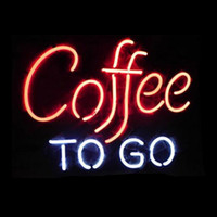 Coffee To Go Cafe Neon Sign Custom Handmade Real Glass Tube ...