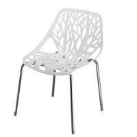 US Instock 4pcs Vogelnest-Art-Lounge Chair Nordic Restaurant Kunststoff Galvanisierter Eisen Rohr Computer Stuhl Elegant Dining Chair Weiß