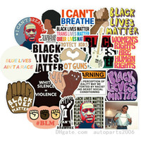 50pcs / lot al por mayor Negro Lives Matter Pegatinas calcomanías de vinilo resistente al agua No-duplicado pegatina para el ordenador portátil de la etiqueta de la botella monopatín de coches