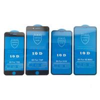 아이폰 X를위한 100PCS 10D 전체 커버 화면 보호기 9H 강화 유리 탄소 섬유 화면 보호기 6 기가 7 8 플러스 X가 최대
