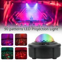 90 أنماط RGB LED ديسكو الخفيفة AC110-240V أحمر أخضر ليزر الإسقاط مصباح المرحلة الإضاءة عرض للمنزل حزب ktv dj الرقص الكلمة