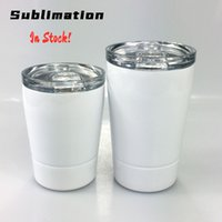 DIY Sublimation 8oz White Kid Mug with Lid Stainless Steel D...