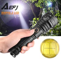 Dropshipping Powerful LED XHP 90.2 Lamp Zoomable 3 lighting modes Torch Support for Mircro charging hunting lamp
