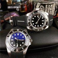 nueva 43MM de zafiro reloj de acero inoxidable 316L reloj deportivo 126600-LN banda de goma Movimiento automático de cerámica Bisel Serie MORADOR