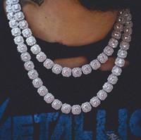 Новое высокое качество хип-хоп RAP мужской моды личности ювелирных 10мм квадратный циркон ожерелье BLING цепь браслет