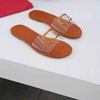 럭셔리 디자이너 신발 여름 해변 플랫 샌들 야생 평평한 바닥 폭 넓은 바닥 편안 미끄럼 마모 방지 슬리퍼 큰 사이즈 35 ~ 45