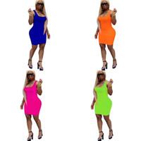 솔리드 컬러 드레스 캐미솔 드레스 스타일 패션 스쿠프 넥 여성 여름 풍부한 색상 간단한 캐주얼 예쁜 22NW E2