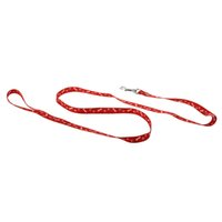 Patas óssea Imprimir Small Dog Pet Leash chumbo Harness Tool - Red