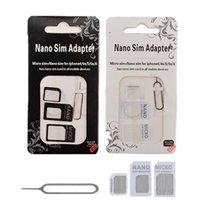 4 in 1 NOOSY Nano Micro Standard-SIM-Karte Convertion Converter Sim Adapter Micro-SIM-Karte für Handy