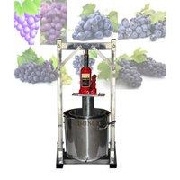 12L Capacidade Fruit Juice Commercial frio da imprensa Juicing máquina Aço Inox 304 2T Jack manual de uva Pulp Juicer Máquina