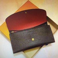 M60697 di cuoio del raccoglitore Portafoglio Donna V lungo Piegare borsa classico portafogli in pelle per il sacchetto esterno della moneta modo delle signore pochette borse # 5565