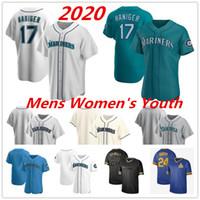 Seattle 2020 Özel Jersey 11 Edgar Martinez 23 Nelson Cruz 16 Domingo Santana 24 Ken Griffey JR 51 Ichiro Suzuki