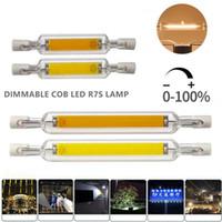 R7S 디 밍 COB LED 램프 전구 유리 튜브 할로겐 빛 스포트 라이트 78mm의 118mm AC110V 230V 6W 10W 에너지 절약을 바꾸기위한