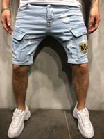Januarysnow Sokak Stili Erkek Delikler Kot Şort Yaz Moda Erkekler Denim Jeans İnce Düz Pantolon Trend Erkek Tasarımcı Pantolon