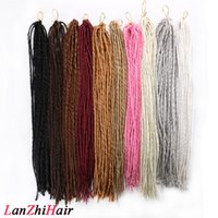 """20 """"Dreadlocks doux Crochet Braids Jumbo Dread Hairstyle 100g / PCs ombre Couleur Synthétique Faux Locs Tressant des extensions de cheveux pour les femmes"""