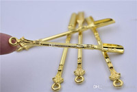 Gold Cuillère Dab Tool de cire Sèche Herbe Vaporisateur Outil DAB Planches Cuillère en métal Pour Sniffer Snorter Hoover Hoover Smover Snuff Accessoires