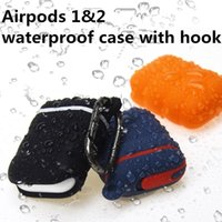 Airpods1&2 Waterproof cases Soft Silicone cover Shockproof P...