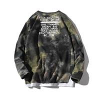 T-shirt da uomo 2021 uomini autunno uomo manica lunga magliette moda stampata mimetica mimetica cargo tee streetwear top tees abz412
