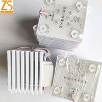 ZS AC 110V / 220V Module LED lumière 70 (L) * 70 (W) * 8mm (H) SMD3030 IP65 (8 modules + 1 pilote)