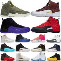Лучшие моды 12 Камень Синий университет Золото Reverse игры Dark Concord OVO Белый Мужчины Баскетбол Обувь 12s Плей Французский синий Спорт кроссовки