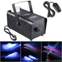 Fog Machine Bubble Machine 400W del fumo macchina Effetto della fase Fogger Control Equipment Wired Disco Party Visualizza