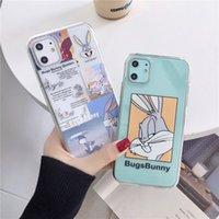 Custodia trasparente del coniglietto dei cartoni animati del progettista per iPhone 11pro Max per iPhone x XR XS Max 7 8 Plus Cassa del telefono Cute Cover Soft