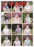 Маски Летней Открытой езды шифонового Face Fashion Printed Женский многоразовый Рот маска шея протектор Солнцезащитный шарф моющегося маска FY6133
