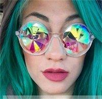 Mode Brille Holidy Garish Kids Übergroße Sonnenbrille Kaleidoskop Runde Brillen Square Männer Frauen Dekorative Nacht Führen Sie 6RJ C2