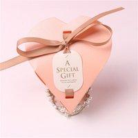 50 / 100Pcs Aşk Kalp Şeker Kutusu Düğün Konuklar için Hediye Kutusu Çikolata Favors Parti Düğün Dekorasyon Malzemeleri