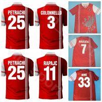 1997 1998 بيروجيا ريترو 7 NAKATA كرة القدم جيرسي 33 NINE 3 COLONNELLO 11 RAPAJC 25 PETRACHI PEREIRA FUSSBALL الرئيسية الأحمر لكرة القدم أطقم قميص
