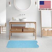 Acessórios de limpeza de estofados 99 * 39cm tapete de tapete Banheira Área de Banheira antiderrapante Banheira Azul Prático Não Deslize Banheiro Tapetes