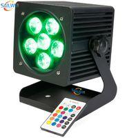 Extérieur étanche 6X18W RGBAW UV LED rechargeable à piles étape Par LED DJ LED Smart UPLIGHT
