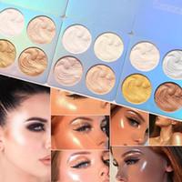 Tavolozza cmaadu-ombretto, 4 colori, evidenziatore, per pasticceria, trucco in polvere, contorno facciale, blusher, trucco, cosmetici, TSLM2