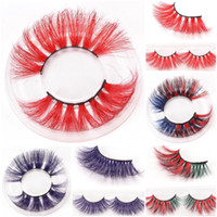 New 25mm Colorful 5D Mink False Eyelashes 17styles Thick Eye...