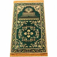 Ramadan et de l'Aïd Décorations Rug islamique religieuse culte Couverture rouge / bleu / vert Couverture 70 * 110cm New Muslim Pocket Taille prière TBb6 #