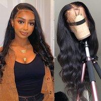 바디 웨이브 레이스 프런트 가발 13x6 사전 뽑아 바디 웨이브 가발 정면 (28) 30 인치 레이스 프런트가 레미 인간의 머리 가발 아프리카 흑인 여성