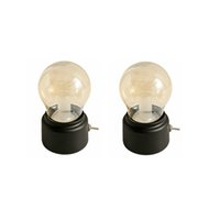Led Night Light Retro USB rechargeable Livre Mood Light Table Bureau Luminaire écriture baladeuses Lampe de chevet CresTech