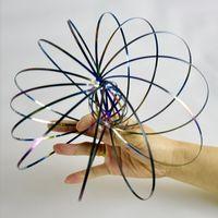 البلاستيك جديد الفولاذ المقاوم للصدأ المس لعبة ماجيك Toroflux التدفق الدائري ألعاب الحركية الجدة مضحك لعبة في الهواء الطلق الذكية تخفيف الضغط لعبة صبي فتاة
