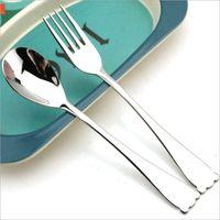 New Design Stainless Steel 18 10 Student Spoon Fork Creative Cute Animal Cat Ears Cutlery Set Dessert Flatware