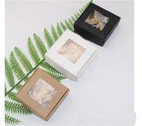 أضعاف كرافت ورقة مربع التفاف الرموش الصناعية الصابون تغليف الحاويات مجوهرات الدائري المنظم diy اليدوية شخصية نافذة شفافة 1xy d2