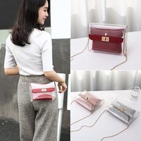 Handbag Fashion Lady Shoulders Jelly Package Letter Purse Mobile Phone Messenger Bag Pochette Femme Sac A Main Femme 25